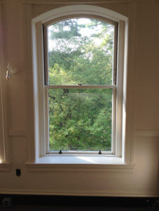 Mary Baker Eded House Typical Double Hung Window Viewed From Interior