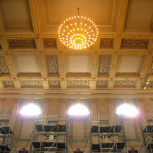 Boston Symphony Hall Clerestory Window Restoration Interior