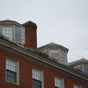 Brown University Wriston Quad Dormer Cheek Wall Restoration