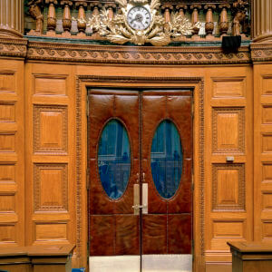 MA House of Representatives door restoration