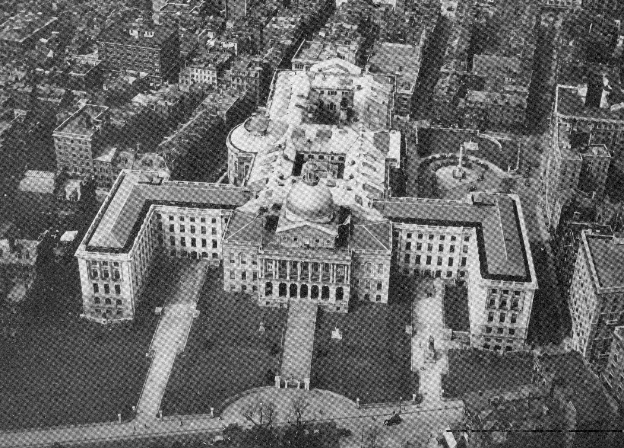 Massachusetts State House Aerial View