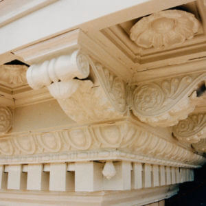 Frank D Walker Building Cornice restoration after