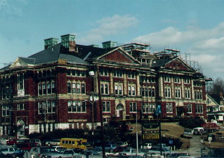 Frank D Walker Building Marlborough Exterior Restoration Staged For Work
