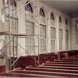 Vilna Shul Historic Wood Window Restoration Interior View After Restoration and Installation
