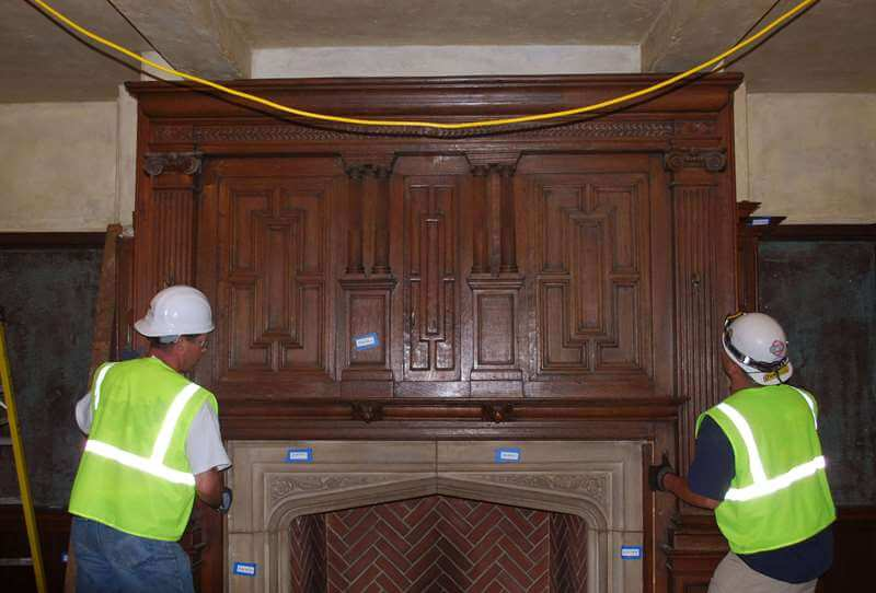 Naumburg-Suite-Harvard-Art-Museums-During-Dismantling-of-Wood-Surround-Fireplace-RESIZED
