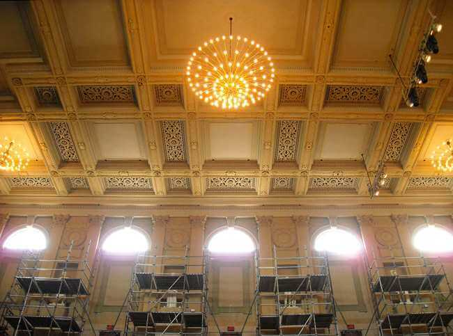 Boston Symphony Hall Clerestory Window Restoration Interior 1 Csgallery