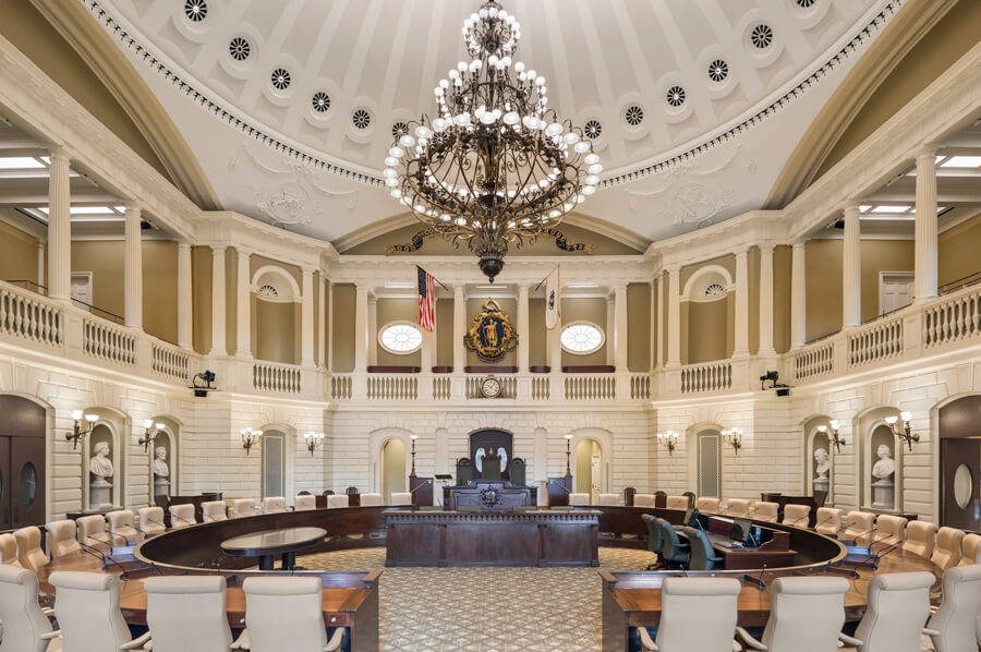 Massachusetts State House Senate Chamber